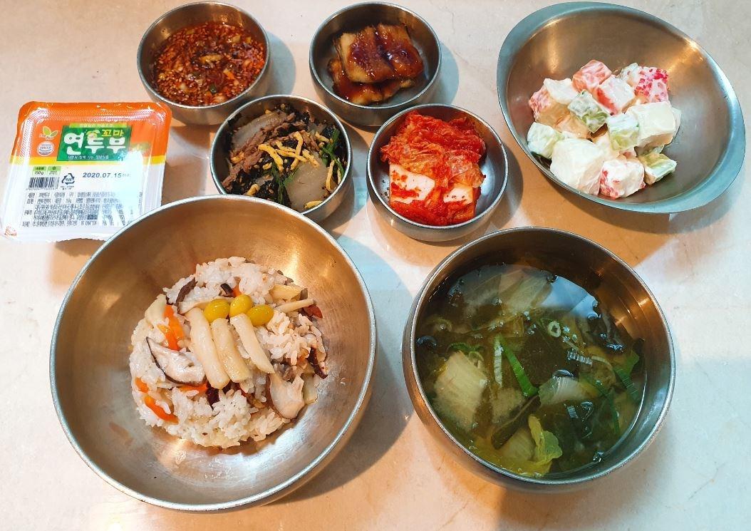 7월 7일 석식 더덕영양밥 외
