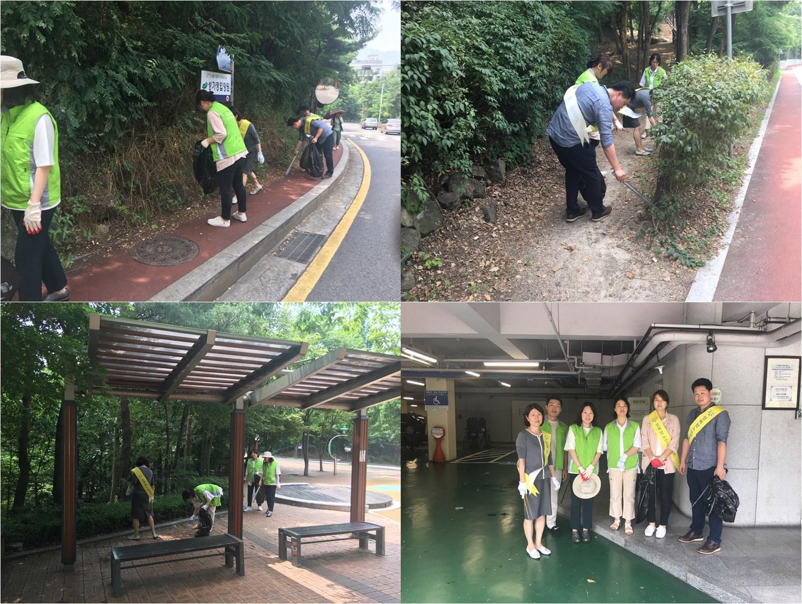 성북참병원에서는 지역사회 공헌을 위하여 Clean 북악 스카이웨이를 진행 하고 있습니다.